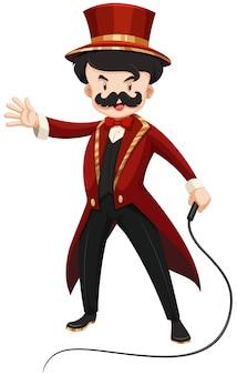 Ringmaster in rood