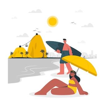 Rio de janeiro concept illustratie