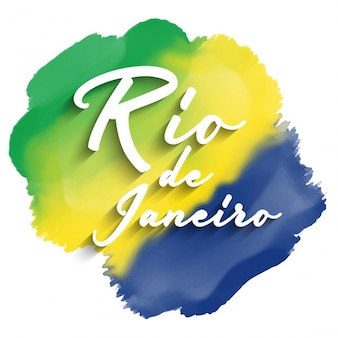 Rio de janeiro tekst op een aquarel achtergrond