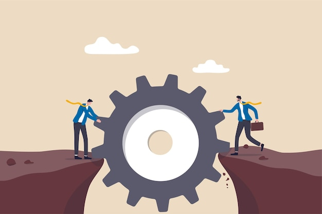 Risicobeheer, bedrijfsidee om moeilijkheden te overwinnen of teamwork