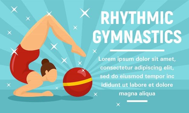 Ritmische gymnastiek sport concept banner Premium Vector