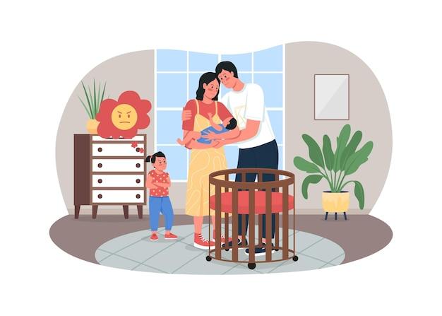 Rivaliteit tussen broers en zussen 2d-webbanner