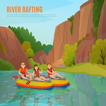 River rafting outdoor samenstelling