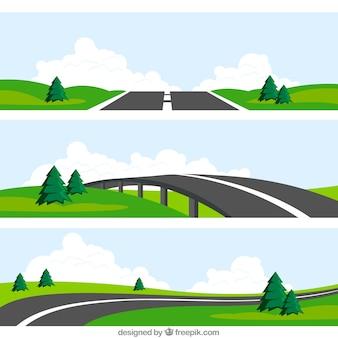 Road landschappen