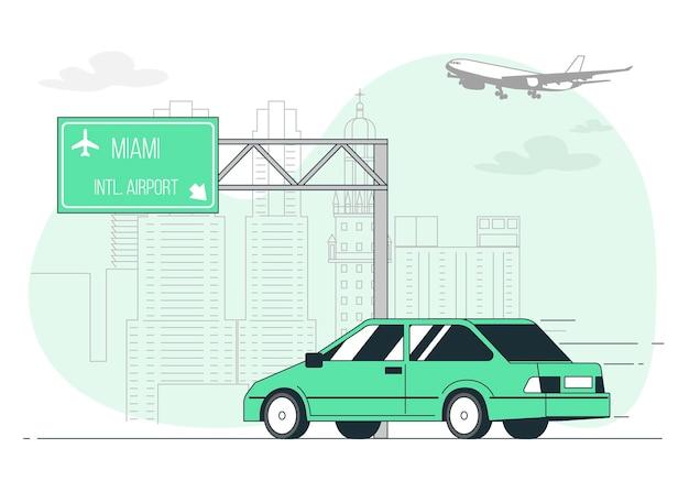 Road sign concept illustratie