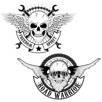 Road warrior embleem