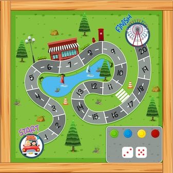 Roadtrip-spelbord