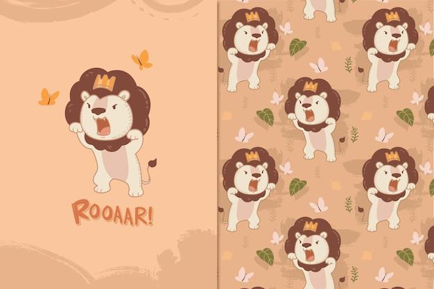 Roarr leeuwenkoning patroon