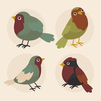 Robin-collectie met plat ontwerp