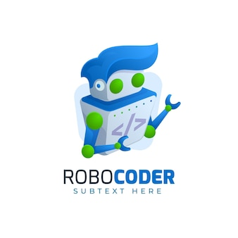 Robocoder logo websjabloon