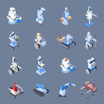 Robot beroepen icon set