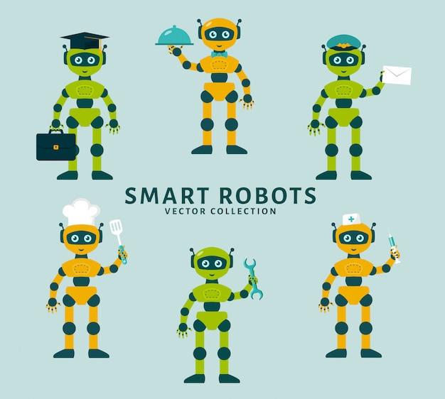 Robot bezigheden. vector verzameling.