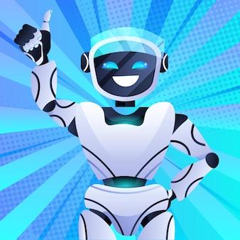 Robot chatbot assistent modern robot karakter