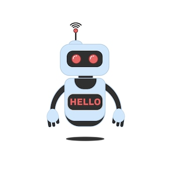 Robot, chatbot, technologie, science fiction 3d.