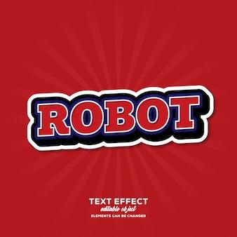 Robot eenvoudig teksteffect met moderne stijl