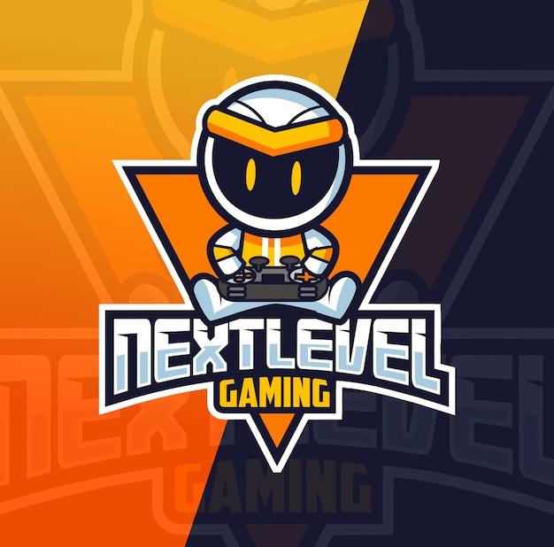 Robot gamer mascotte esport logo