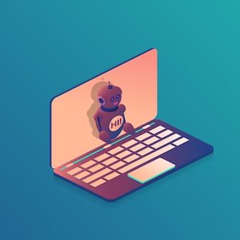 Robot-helper-laptop
