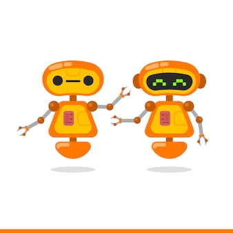 Robot karakter ontwerpset