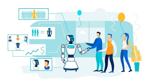 Robot kunstmatige intelligentie verwerking.