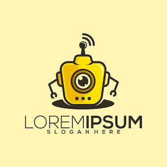 Robot logo ontwerp vector