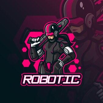 Robot mascotte logo