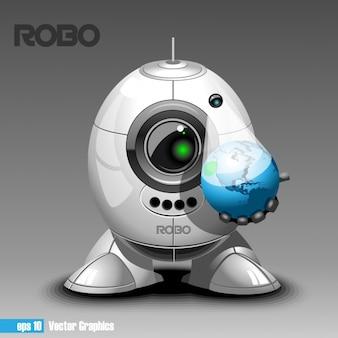 Robot met een planeet