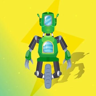 Robot monteur illustratie premium