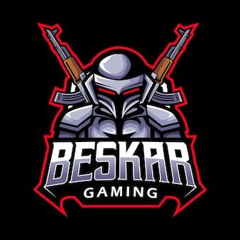 Robot soldaat, mascotte logo
