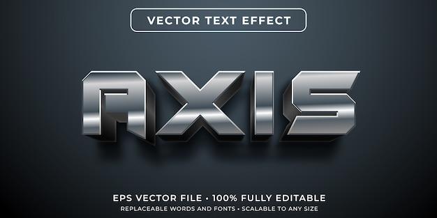 Robotachtig metaal bewerkbaar teksteffect
