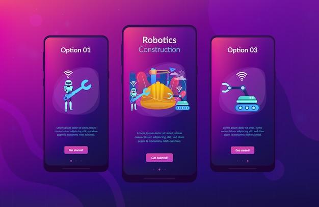 Robotica constructie app interface sjabloon.