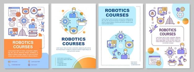 Robotica cursussen brochure sjabloon. machine learning.