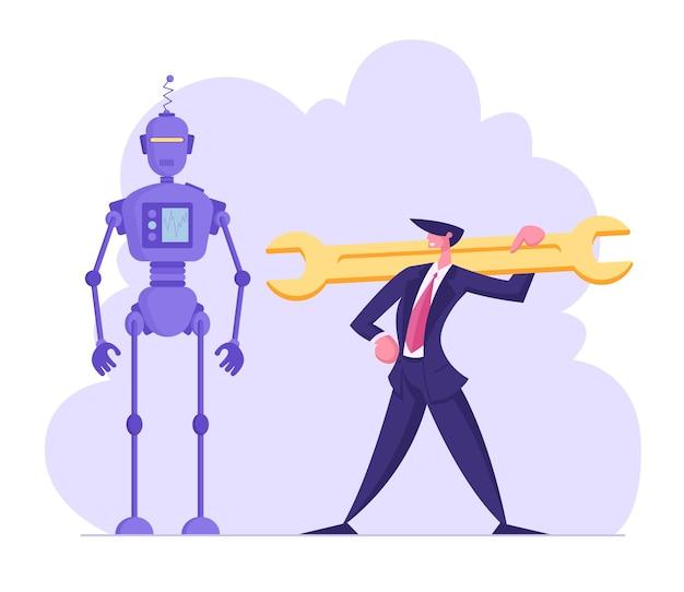 Robotica engineering chatbot en automatisering in bedrijfsconcept