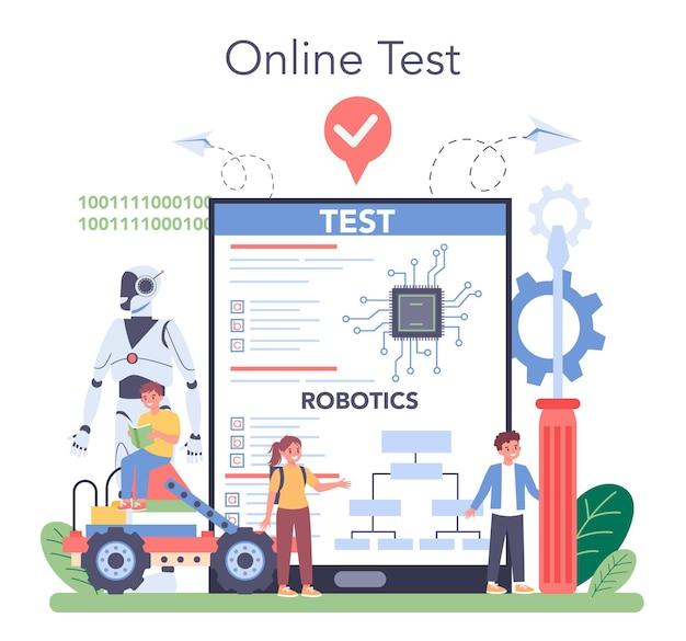Robotica-schoolvak online service of platform
