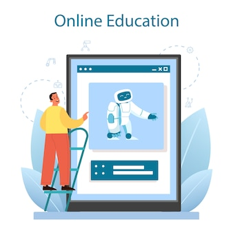 Roboticist online service of platform