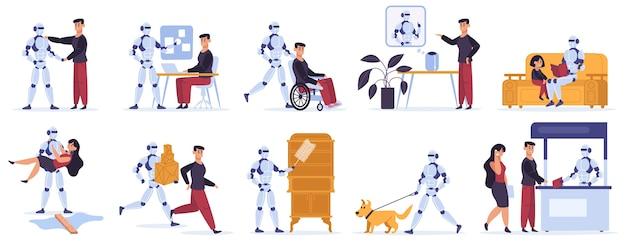 Robotinteracties in plat ontwerp