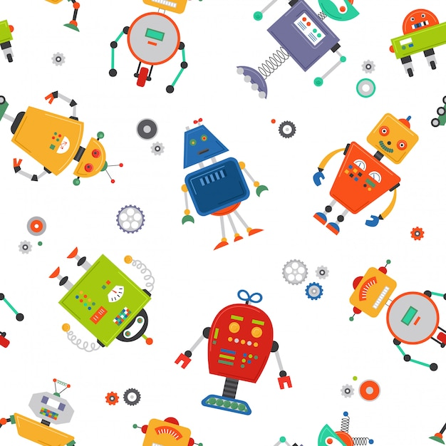 Robots naadloos patroon