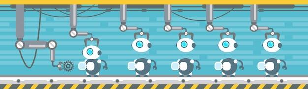 Robots productie transportband automatische assemblagemachines industriële automatiseringsindustrie