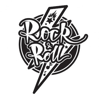 Rock and roll belettering