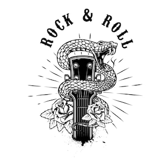 Rock and roll illustratie