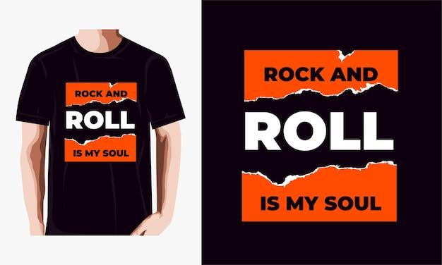 Rock and roll is mijn ziel t-shirt design