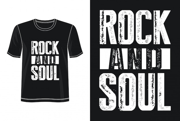 Rock and roll typografie voor print t-shirt