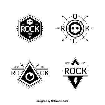 Rock band logo collectie