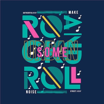 Rock en rool muziek grafisch t-shirt typografieontwerp