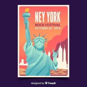 Rock festival poster met kleurovergang illustratie