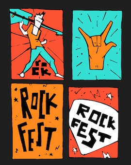 Rock muziekfestival poster