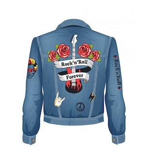 Rock-n-roll denim illustratie voor altijd