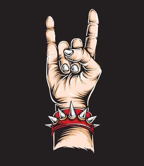 Rock n roll hand