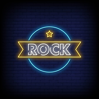 Rock neon uithangbord