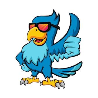 Rock parrot mascot design
