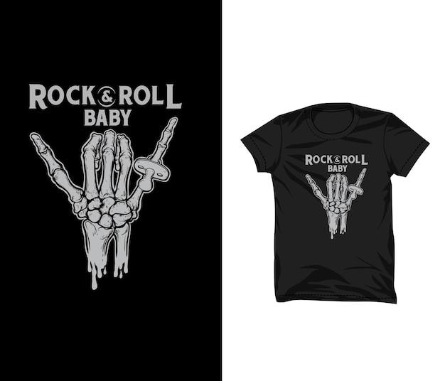 Rock roll baby t-shirt ontwerp